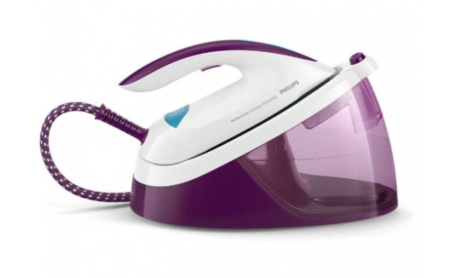 PhilipsPerfectCareCompactEssential2400WSteamGeneratorIron-PurpleWhite-GC683330