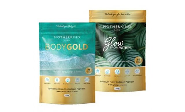 2 Pack - Body Gold Bioactive Collagen Peptides - 375g & Glow from Within Collagen - 250g