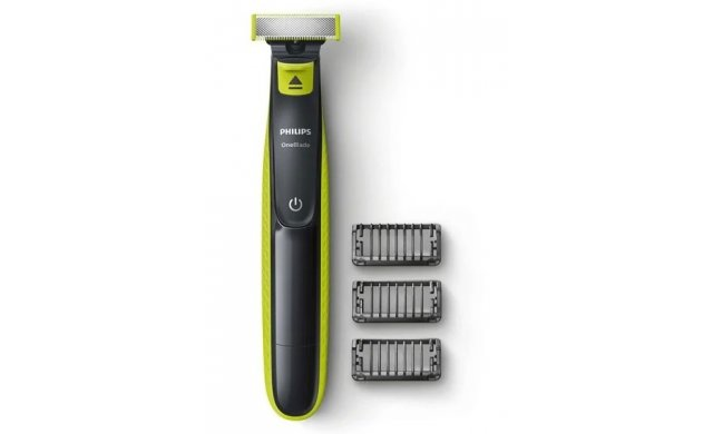 Philips One Blade Shaver Frame 3 Combs Charcoal Grey Lime Green